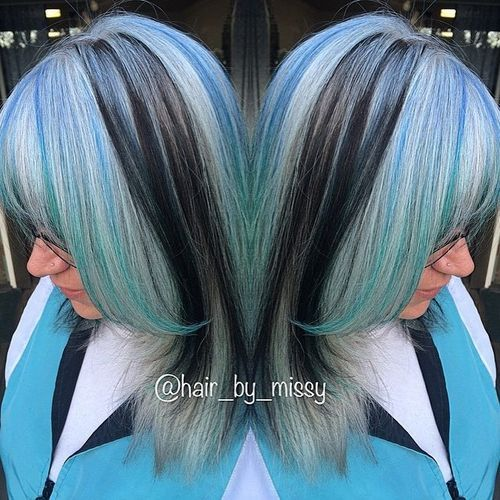 Blue and Sliver Highlights