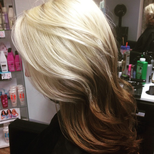 Bright Blonde Hairstyle
