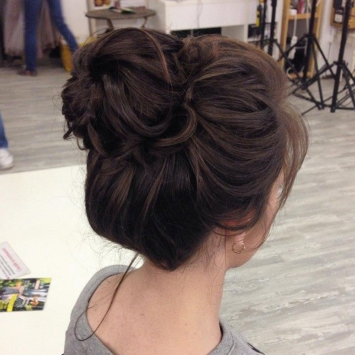 Bun for Curly Hair