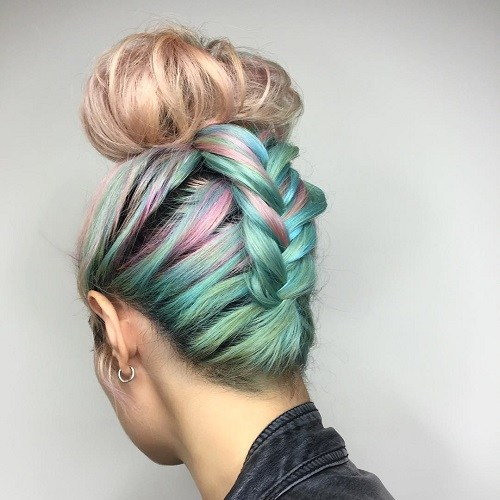 Colorful Top Bun
