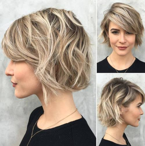 Curly Choppy Bob