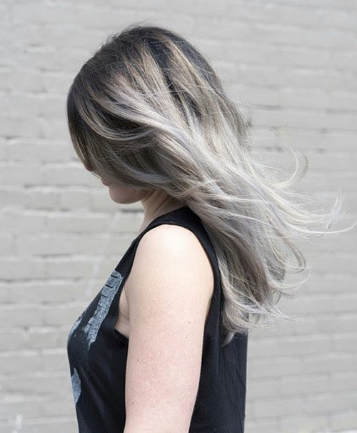 Golden and Sliver Hairstyle