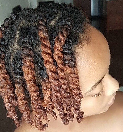 Highlighted Kinky Twists