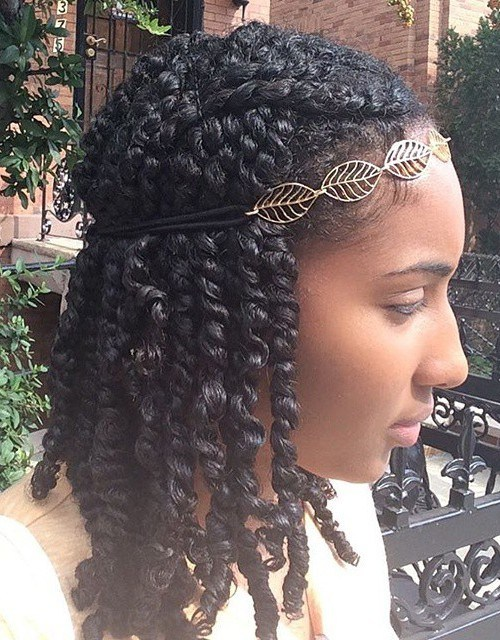 Kinky Twists with Pretty Hairband