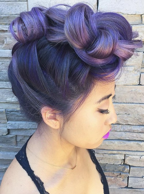 Lavender Braided Hair