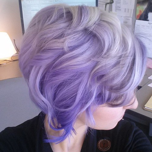 Lavender Ombre Short Hair
