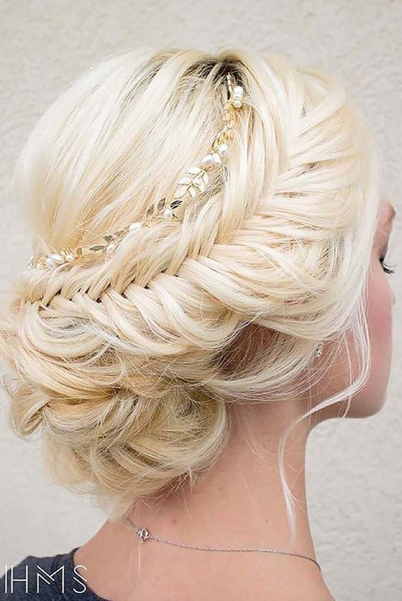 Loose, French Braid with Updos