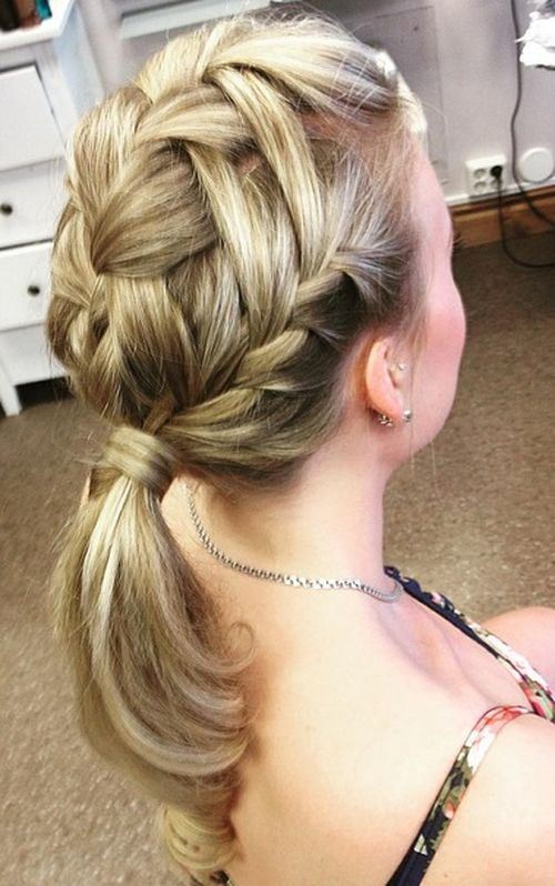 Ponytail with Braids