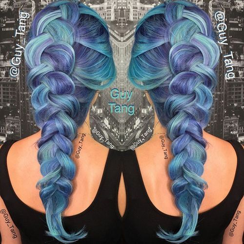 Purple and Blue Mermaid Hair