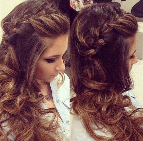 Romantic French Side Braid Hairstyles For Long Hair Half Up Half Down Hairstyles Weekly