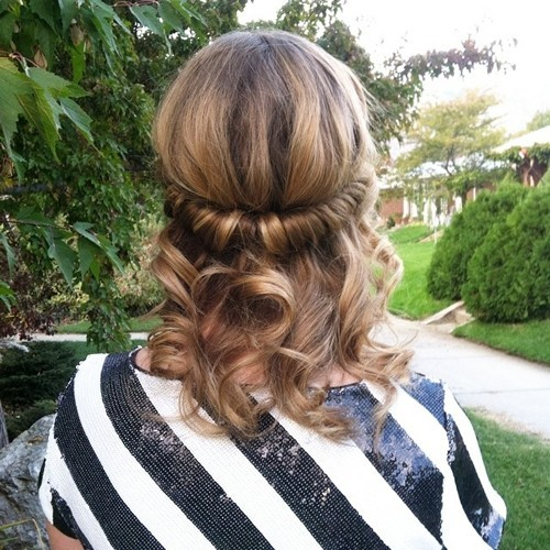 Simple Half Updo for Medium Hair