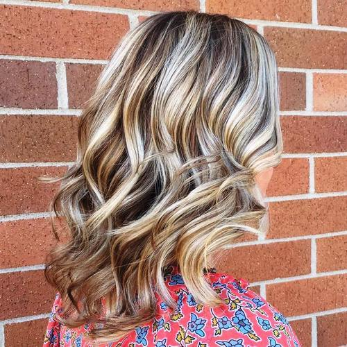 Sliver Highlights for Curly Hair