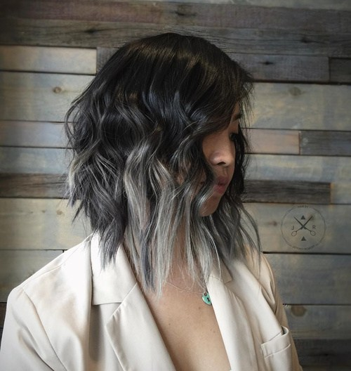 Sliver Wavy Hair