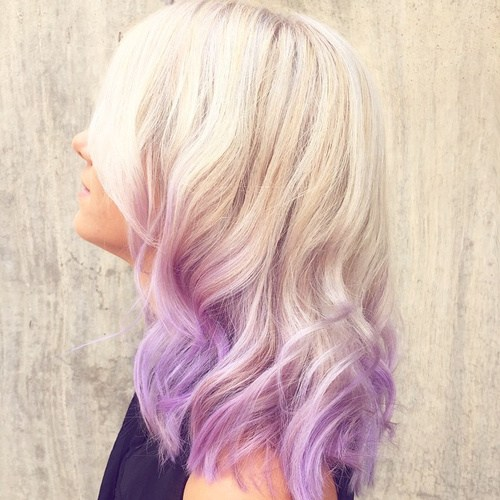 Sliver and Lavender Hairstyle
