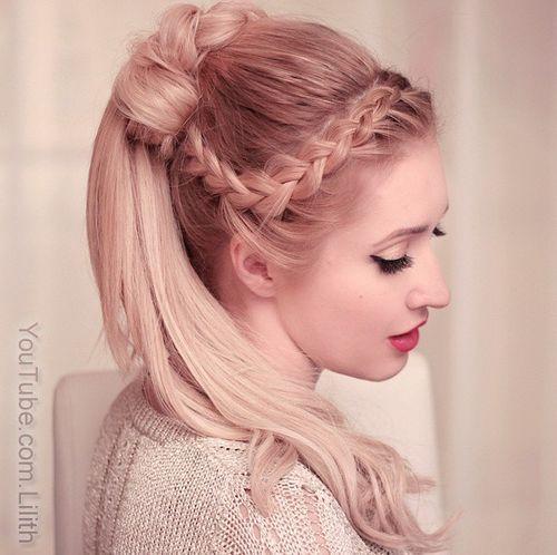 Stylish French Braid Ponytail