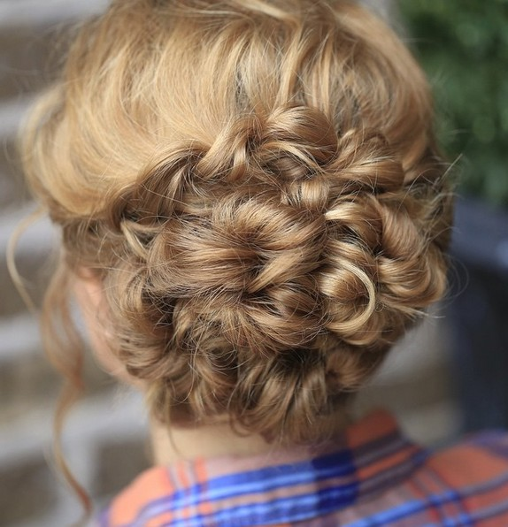 Updo-Hairstyle-for-Medium-Long-Hair-Stylish-Homecoming-Hairstyle-Ideas- Hairstyles Weekly