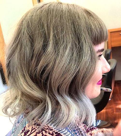 20 cool silver white highlights hair ideas hairstyles weekly trendy medium bob with bangs silver highlights on tips for roundheart face white ends credit on mousy brown hair pmusecretfo Choice Image
