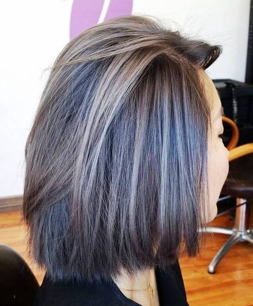 White Highlights for Straight Bob