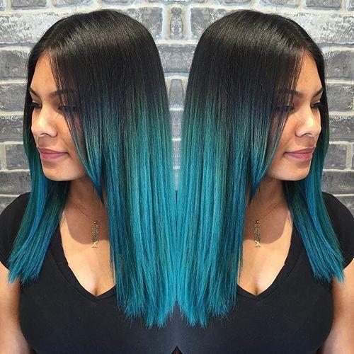 20 Blue Hair Color Ideas Pastel Blue Balayage Ombre Blue