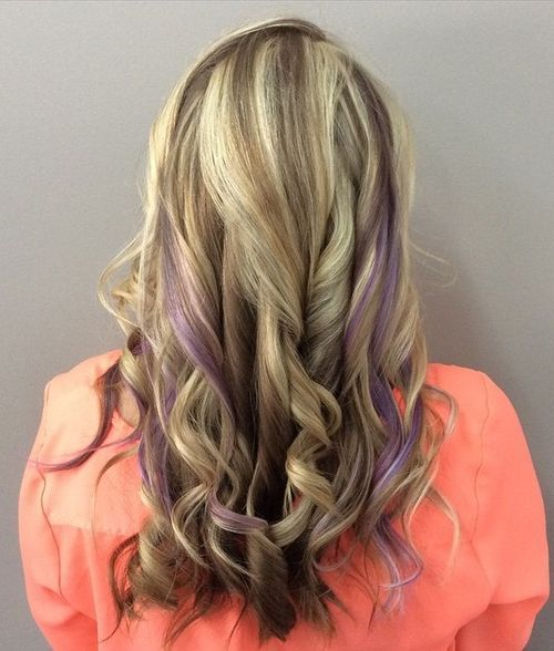20 Sassy Purple Highlighted Hairstyles