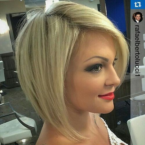 Blonde Bob with Side Parting
