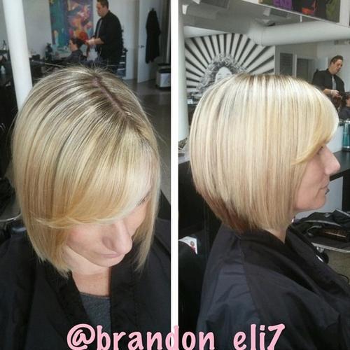 Blonde Bob with Trendy Bangs