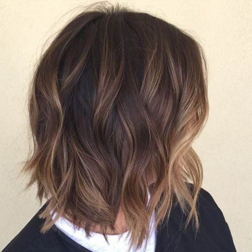 Brown and <u>bob hairstyle with side bangs 2018</u> Blonde Hair