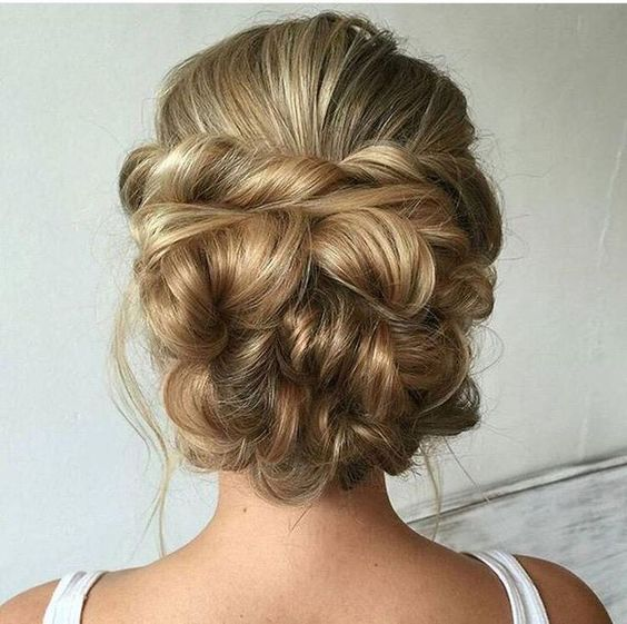 Chic elegant updo for medium hair