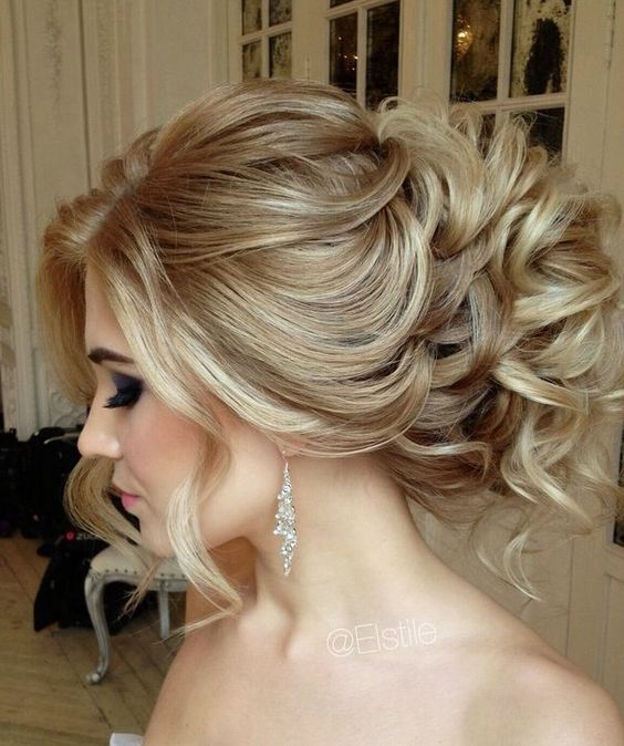 Medium Length Hair Messy Updo Hairstyles