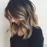 hottest lob hairstyle with balayage highlights