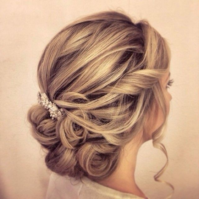 35 Romantic Wedding Updos for Medium Hair - Wedding Hairstyles 2019 ...