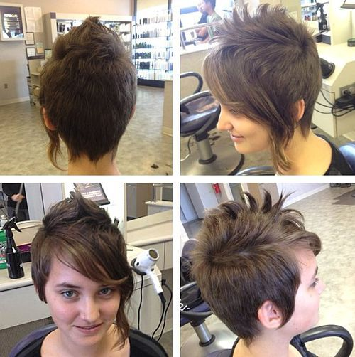 20 Faux Hawk Inspired Hairstyles for Women - Female Fauxhawk