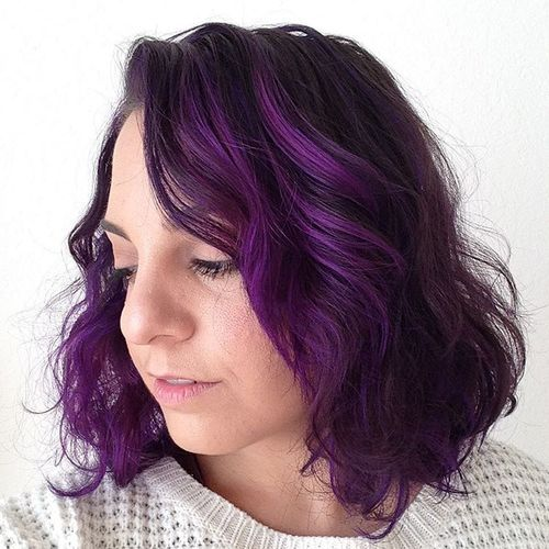 21 Cool Stylish Purple Highlighted Hair Ideas Purple Hairstyles Hairstyles Weekly