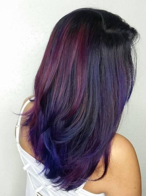 21 Cool Stylish Purple Highlighted Hair Ideas Purple