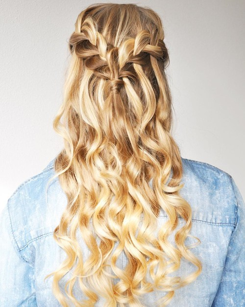 20 Simple Easy but Beautiful Waterfall Hairstyles You Can Try ...