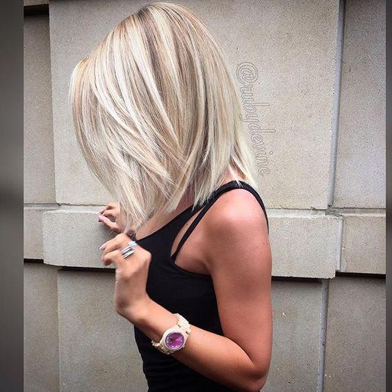 Medium Length Blunt Haircuts With Bangs 42