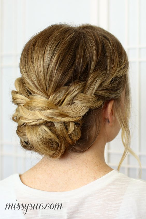 25 Chic Braided Updos for Medium Length Hair