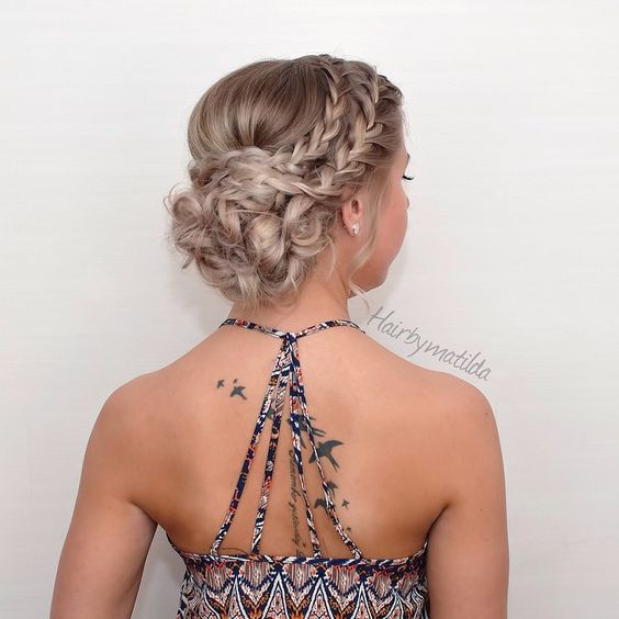 25 chic braided updos for medium length hair hairstyles weekly 25 chic updos for medium length hair pmusecretfo Gallery