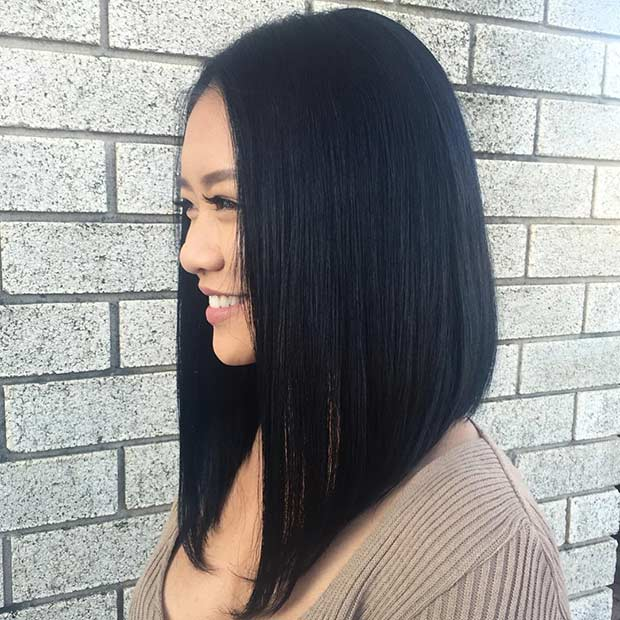 Long bob cut hair styles