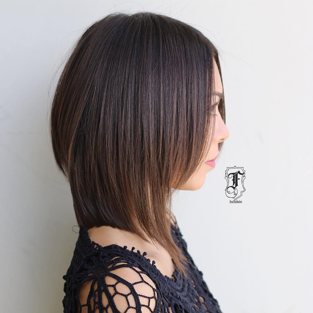 Back View Shoulder Length Layered Haircuts For Thick Hair 84