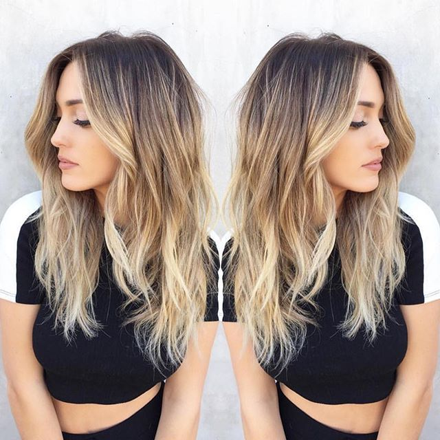 15 Balayage Hair Color Ideas With Blonde Highlights: 30 Best Balayage Hairstyles 2019