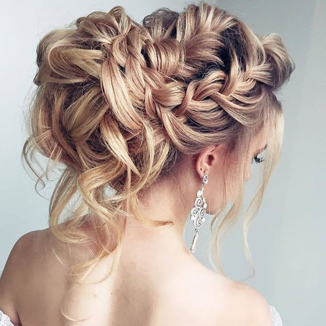 30 Romantic Messy Updos For Wedding 2019 Best Wedding Updos