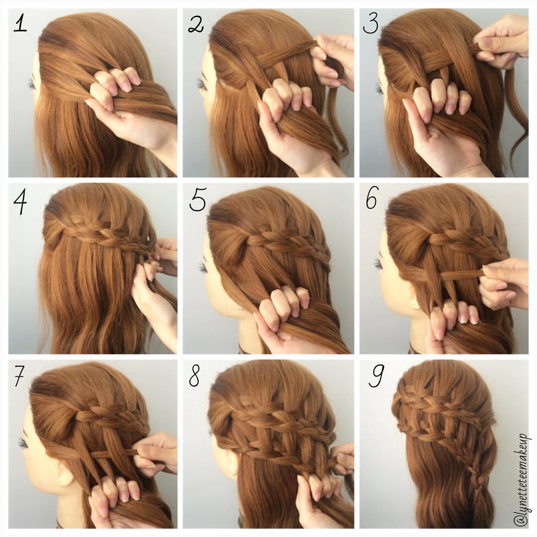 Step by step hairstyles tutorial