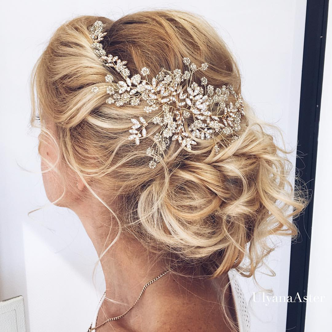 35 romantic wedding updos for medium hair - wedding hairstyles 2018