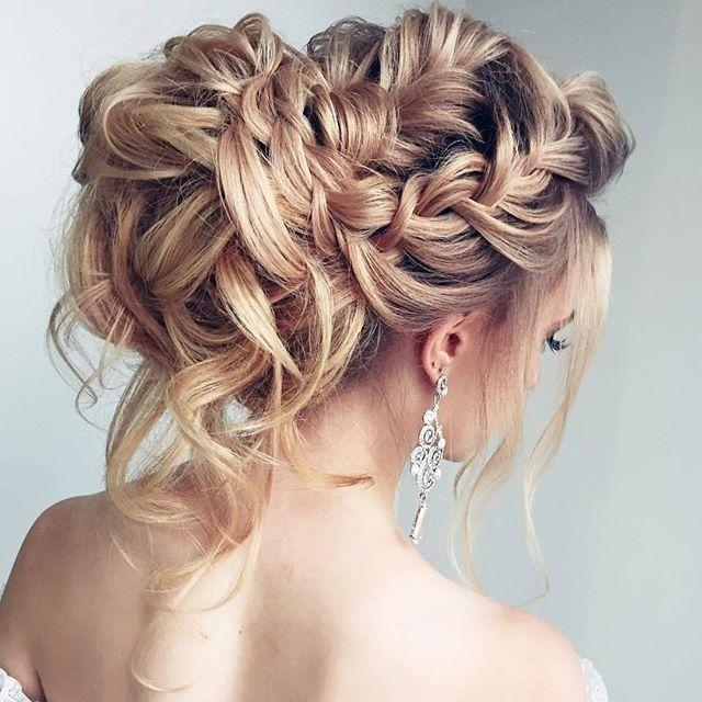 35 Romantic Wedding Updos For Medium Hair Wedding Hairstyles 2019