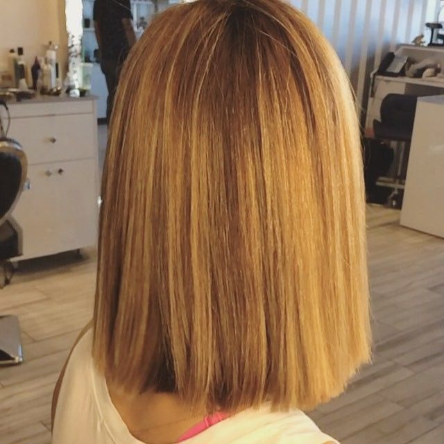 Celebrity hairstyles chin length lob