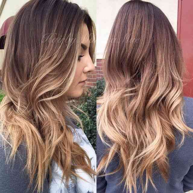 Ombre Hair Brown To Caramel To Blonde Medium Length 40 Fabulous Ombre &...