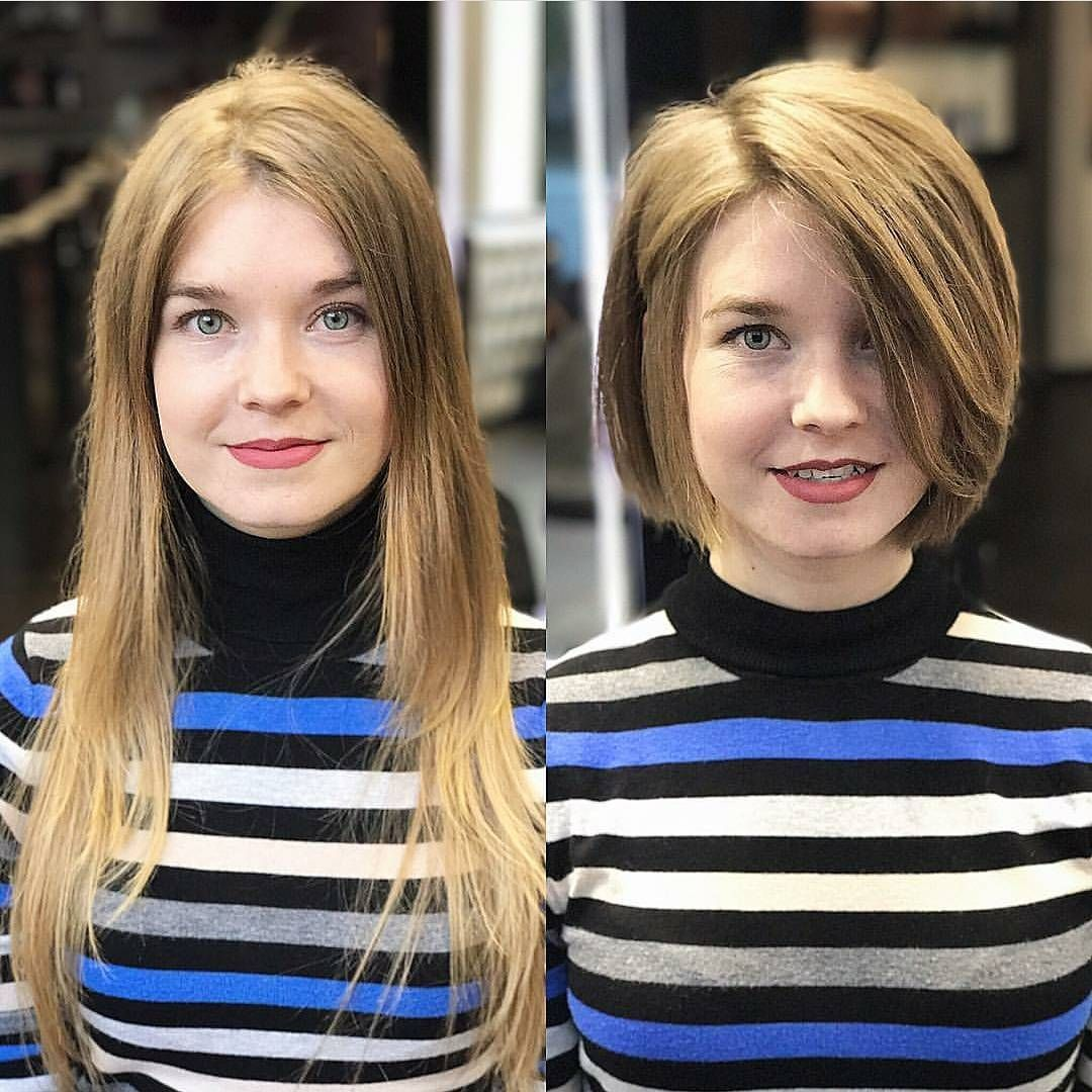 ... 40 Most Flattering Bob Hairstyles for Round Faces 2018