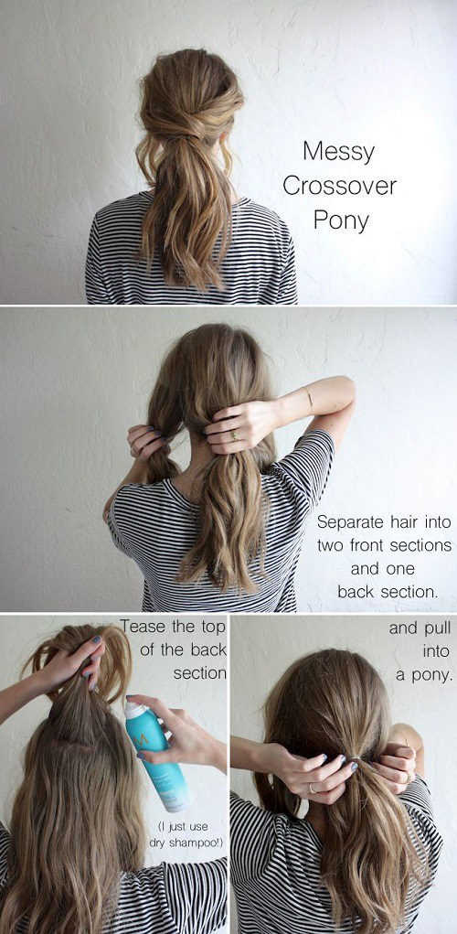 20 Simple Hair Tutorials for Medium and Long Hair