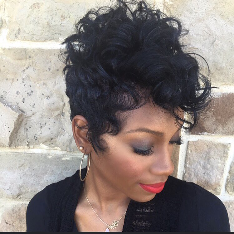 black curly pixie 2022